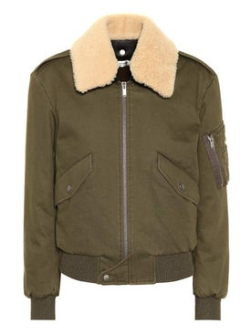 Saint Laurent - Shearling-trimmed Bomber Jacket - Women