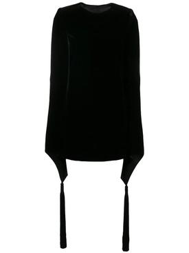 wide sleeve velvet dress