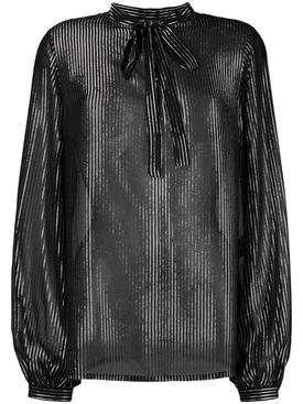 Tie neck blouse BLACK