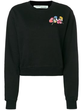 Off-white - Flowers Crop Crewnck - Women