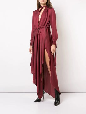 Off-white - Neck Foulard Dress - Women