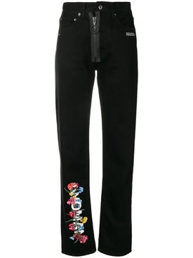 Off-white - Floral High-waist Jeans - Women