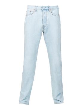 studs detail slim jeans