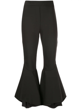 full flare cropped trousers