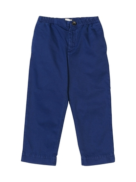 elasticated-waist chino trousers BLUE