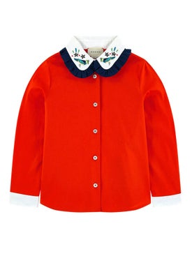 Gucci Kids - Embroidered Collar Cardigan - Women