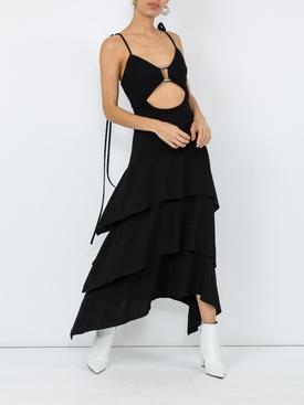 layered midi dress BLACK