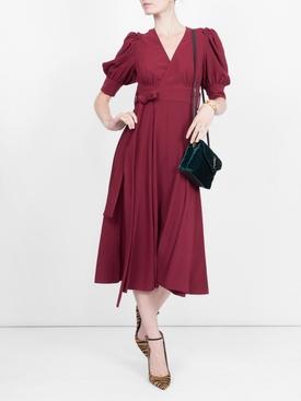 volume sleeve dress RED