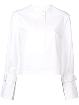 long-sleeve cropped shirt WHITE