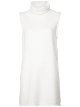 cowl neck sleeveless sweater WHITE