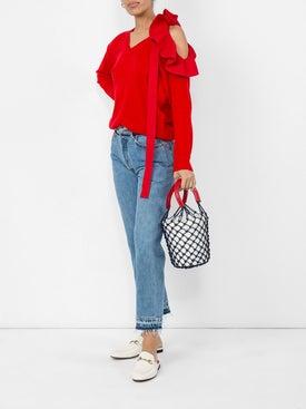 Valentino - Red Ruffle Sweater - Women