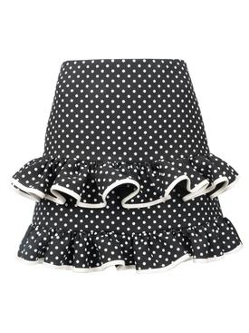 polka dot frilled skirt