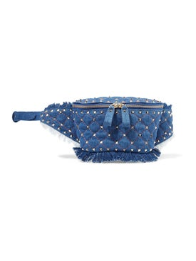 Valentino Garavani - Rockstud Quilted Denim Belt Bag - Women