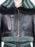 Acne Studios - Shearling Leather Jacket - Women