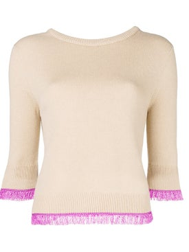 Chloé - Cashmere Sweater With Fringe Detail - Women
