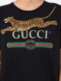 Gucci - Gucci Logo T-shirt With Leopard - Men