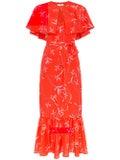 Borgo De Nor - Margarita Cape Dress Red - Women