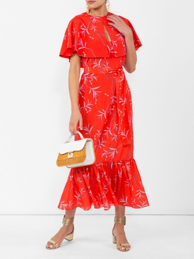 margarita cape dress RED