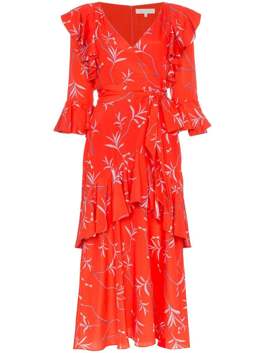 Borgo De Nor AIANA WRAP FRILL DRESS