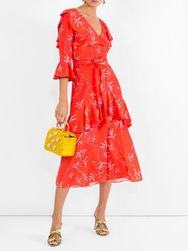 aiana wrap frill dress