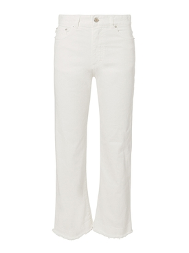 White cropped jeans WHITE