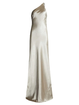 Roxy Metallic Evening Dress SILVER