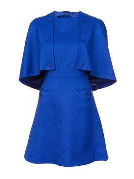 Sara Battaglia - A-line Cape Dress Blue - Women