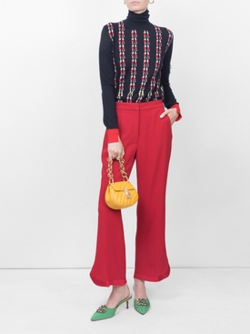 classic cropped trousers RED