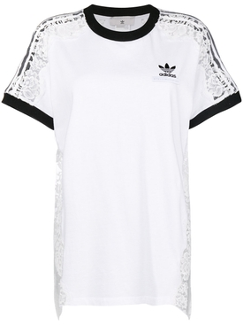 t-shirt with lace detail WHITE