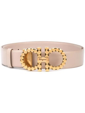 Salvatore Ferragamo - Neutral Gancini Belt - Women