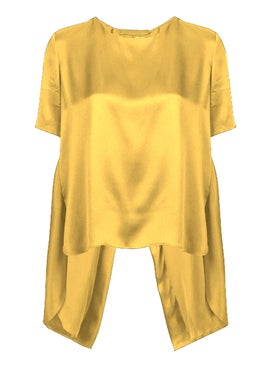 Adam Lippes - Silk T-shirt Yellow - Women