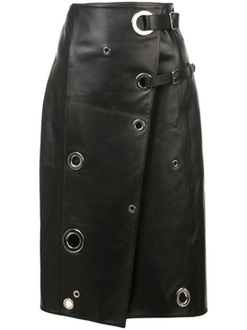rivet wrap skirt