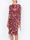Atlein - Printed Wave Mini Dress - Women