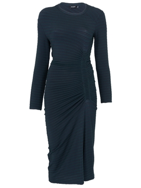 Long sleeve Ruched dress BLUE