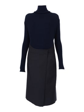 Atlein - Long Sleeve Apron Dress - Women