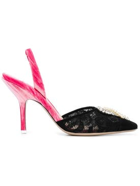 Attico - Embellished Pointed Pumps - Women