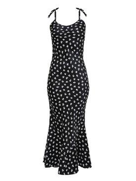 Attico - Printed Satin Dress - Women