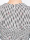 Hvn - V-neck Mini Dress Black & White - Women
