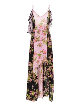 Natasha Zinko - Rose Print Silk Maxi Dress Multicolor - Women