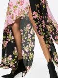Natasha Zinko - Rose Print Silk Maxi Dress Multicolor - Women