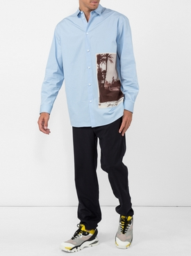drawcord trousers BLUE