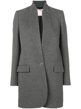 grey inverted lapel blazer