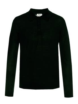Acne Studios - Nadirr Polo Sweater Black - Men