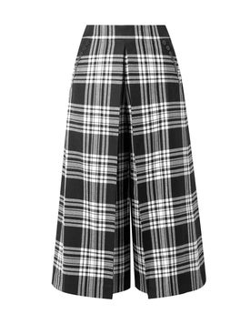 Alexanderwang - High Waisted Plaid Cropped Trousers - Women