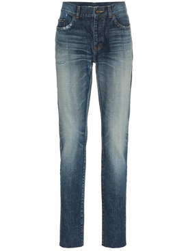 midblue skinny distressed jeans
