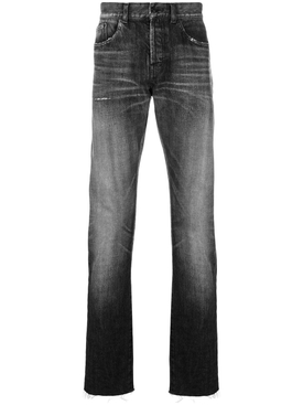 faded straight leg jeans
