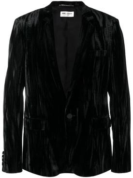Crushed velvet blazer
