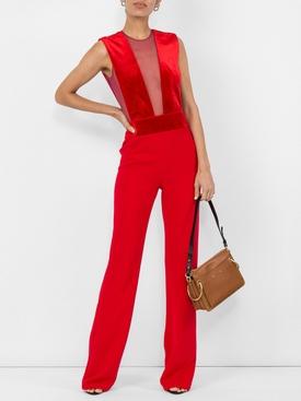 velvet gwyneth jumpsuit RED