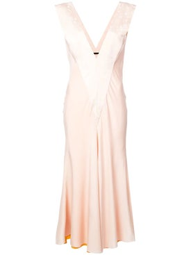 Haider Ackermann - Draped V-neck Dress Pink - Women