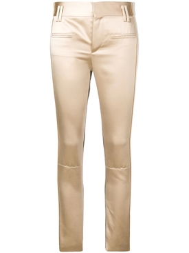 stiped slim fit trousers